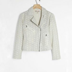 Anthropologie Rossi Eyelet Moto Jacket by Dolan